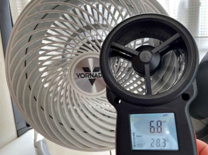 ボルネード723DC-JPの最大風速